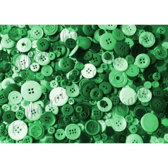Kerek gombok zöld színekkel