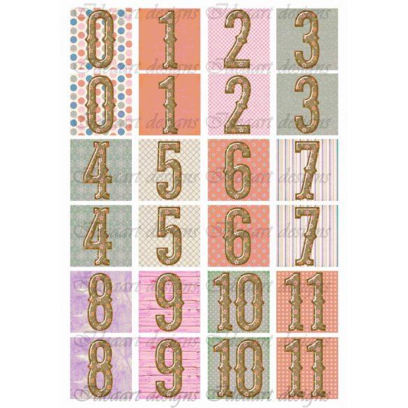 Memóriakártya számokkal