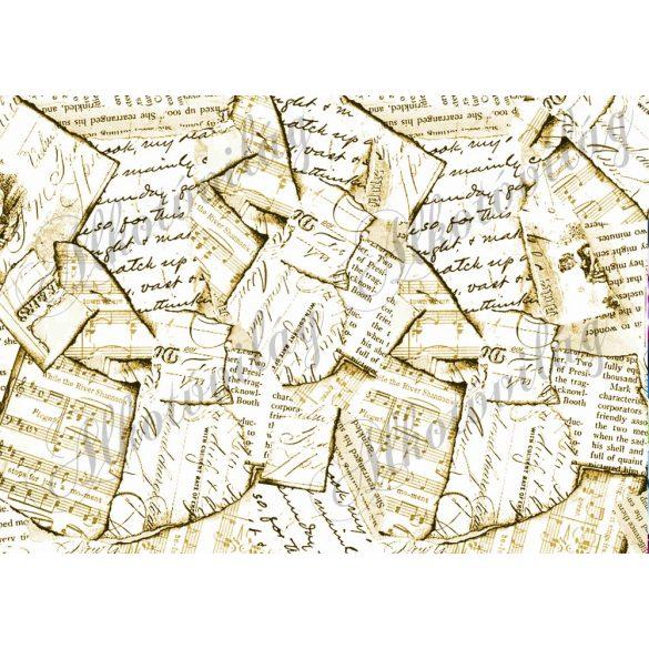 Tépett papírok szépiában