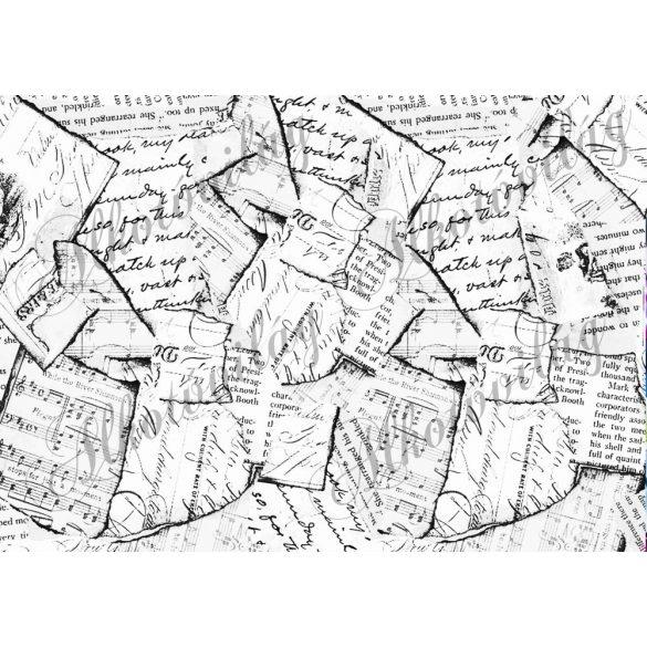 Tépett papírok fekete - fehérben