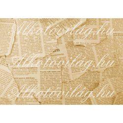 Újságpapír darabok szépiában