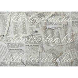 Újságpapír darabok szürkében