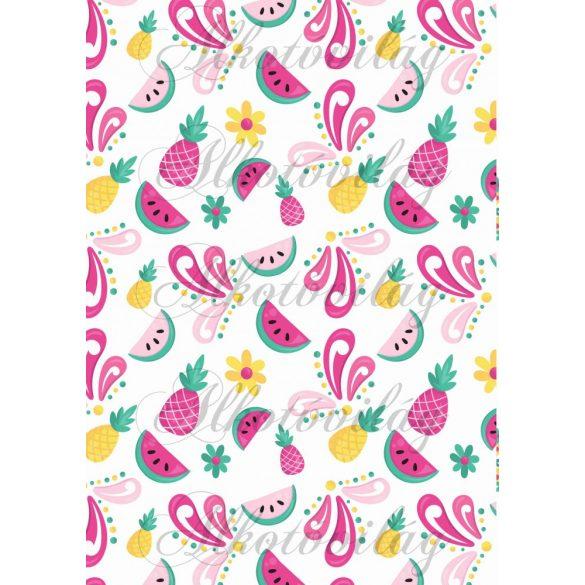 Flamingós csomag: dinnye-ananász- virág