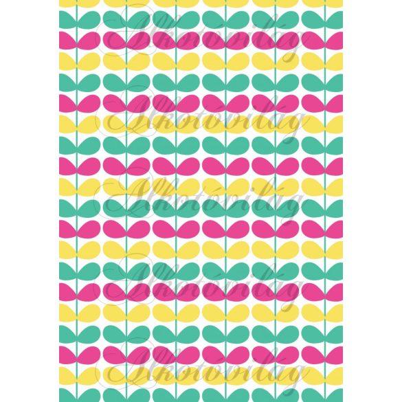 Flamingós csomag: színes leveles ágak