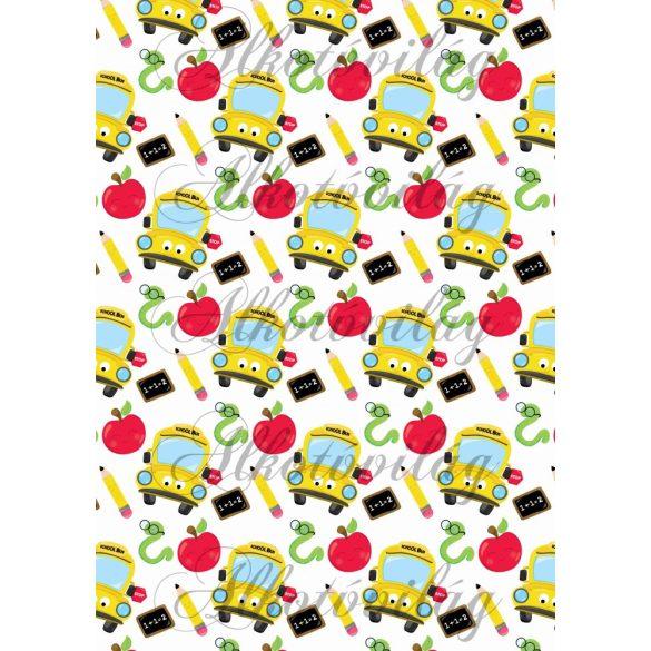 Iskolakezdés csomag: sárga busz