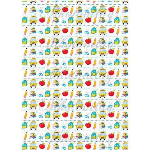 Iskolakezdés csomag majmokkal: vegyes mintákkal
