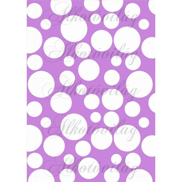 Tavaszi baglyos csomag: buborékok lila alapon
