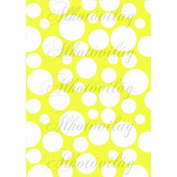 Tavaszi baglyos csomag: buborékok sárga alapon