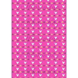 Apró szívek pink alapon
