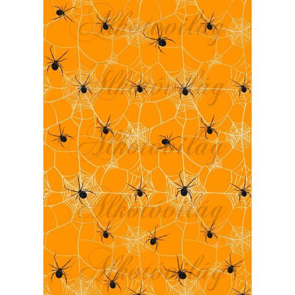 Pókhálós narancssárga alappal
