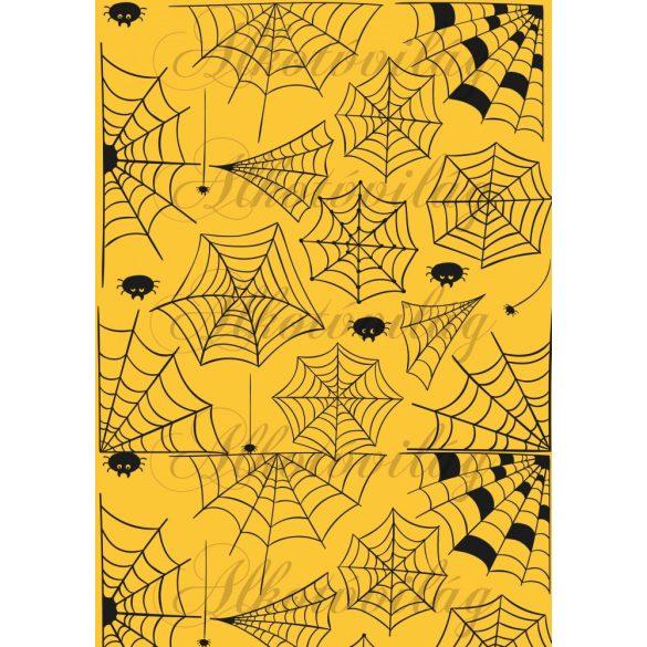 Pókhálós sárga alappal