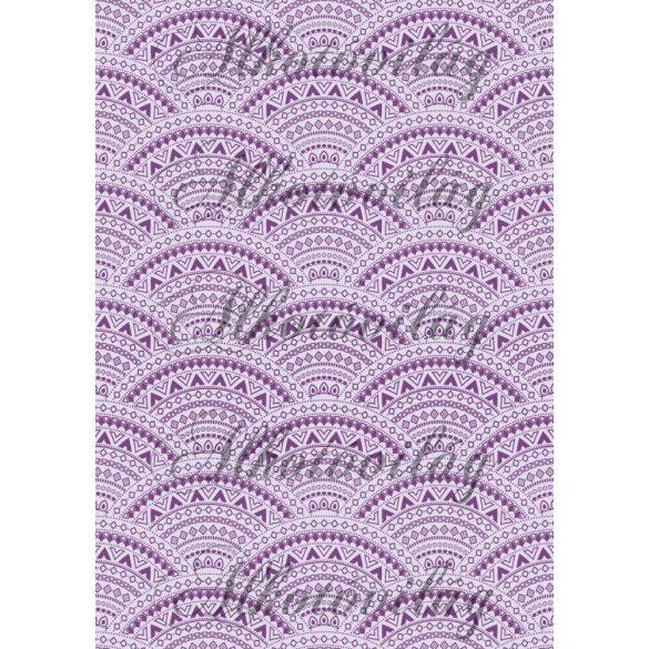 Csipkés minták íves mintával- halványlila háttérrel