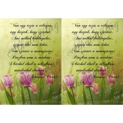 Tulipános blokk idézettel duplán