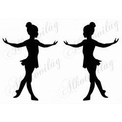 Ballerina lánykák 2 db A5