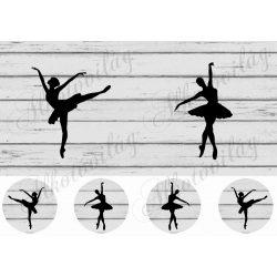 Ballerinás minta 10- 12,5 cm-es hímzőkeretbe