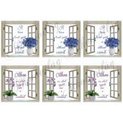 Ablakok otthon idézetekkel 6db