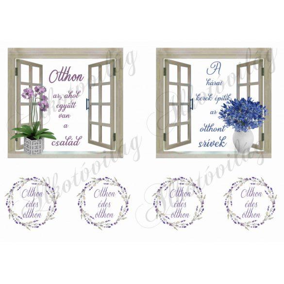 Ablakok otthon idézetekkel