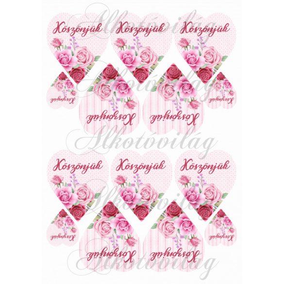 KÖSZÖNJÜK- Rózsaszín rózsás szíveken KICSIBEN