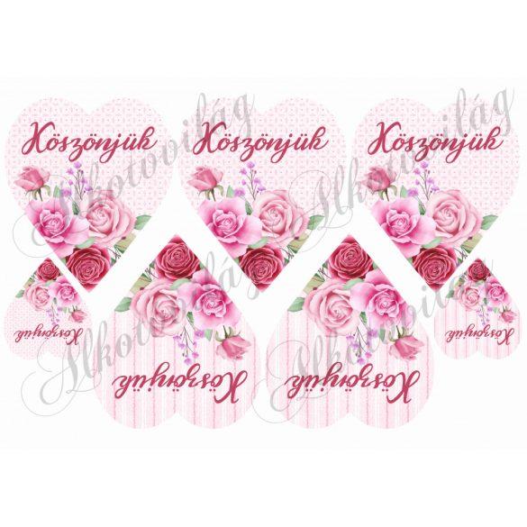 KÖSZÖNJÜK- Rózsaszín rózsás szíveken