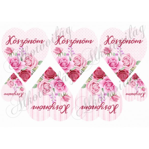 KÖSZÖNÖM- Rózsaszín rózsás szíveken