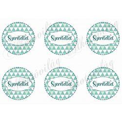 SZERETETTEL háromszög mintás körökben