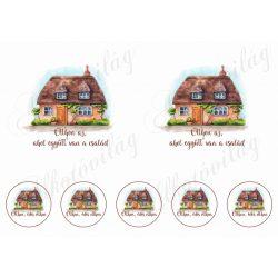 Otthon az... házikós képek 10-14 cm-es hímzőkerethez