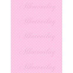 Fehér apró szívek rózsaszín alapon