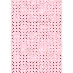 Piros apró szívek pasztell rózsaszín alapon