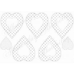 Szürke apró szív mintás szívek fehér belsővel