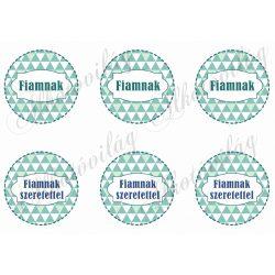 Háromszög mintás körök FIAMNAK feliratokkal