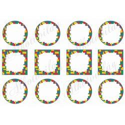 Legós keretek kör és négyzet