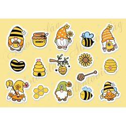 Méhecskés manók matricán