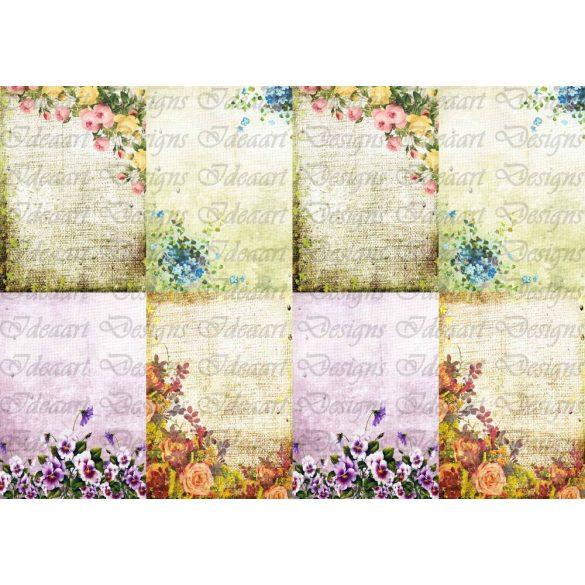 Virágok a kertben - kártyák