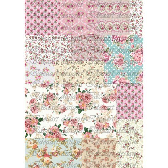 Rózsás patchwork