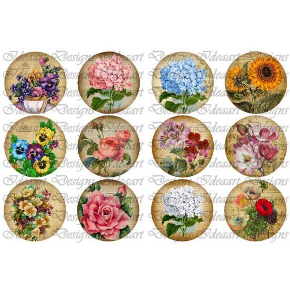 Körök virágokkal – 7 cm