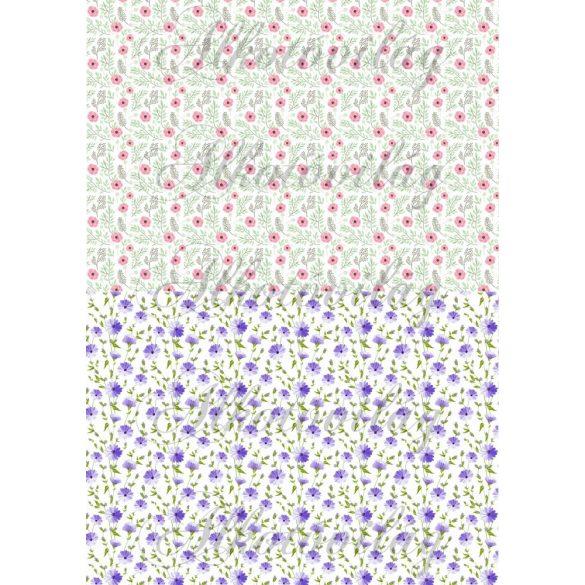 Apró virágos blokkok 2 féle