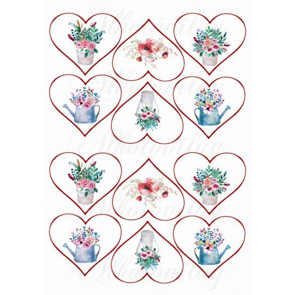 Kannás virágok szívekben KICSIBEN