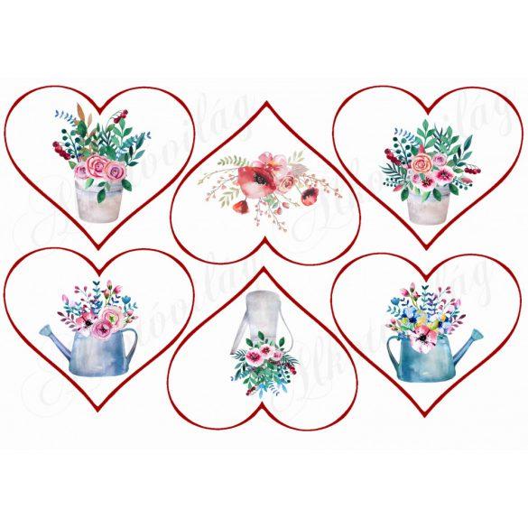 Kannás virágok szívekben