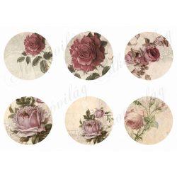 Romantikus rózsás körök 8 cm-es méretben