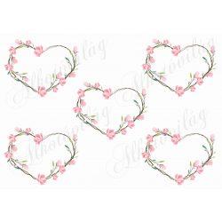Rózsás szív keretek üresen 5 db