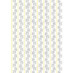 Szürke - sárga virágos kollekció - szürke inkák sárga csíkok között fehér alapon