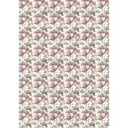 Gyönyörű rózsaszín rózsák fehér liliomokkal MINIBEN