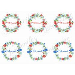 Pipacsos és búzavirágos koszorúk TESTVÉREMNEK feliratokkal