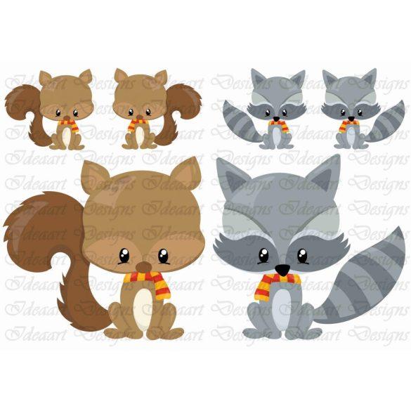 Szeretnivaló állatkák- mókus,borz