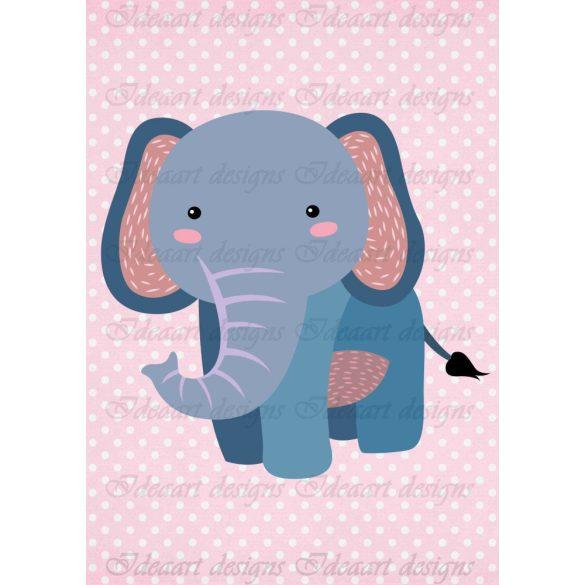 Állatsereg A4- elefánt