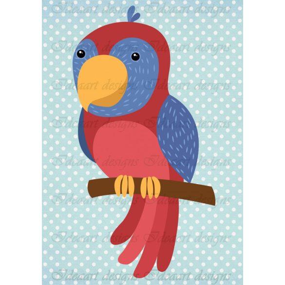 Állatsereg A4- papagáj