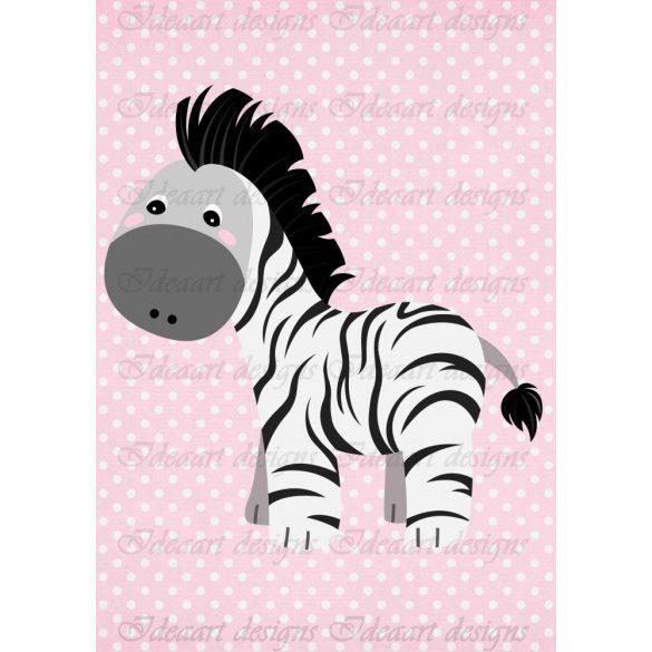 Állatsereg A4- zebra