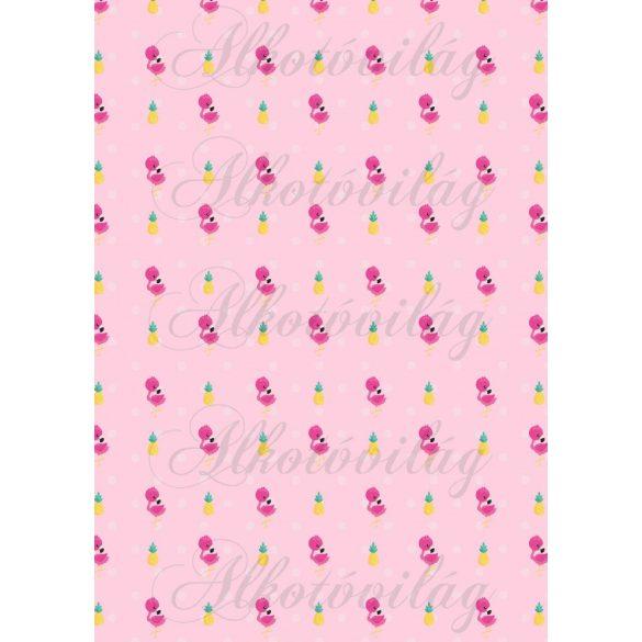 Flamingós csomag: flamingók ananásszal