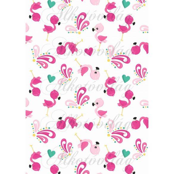 Flamingós csomag: flamingók pillangókkal