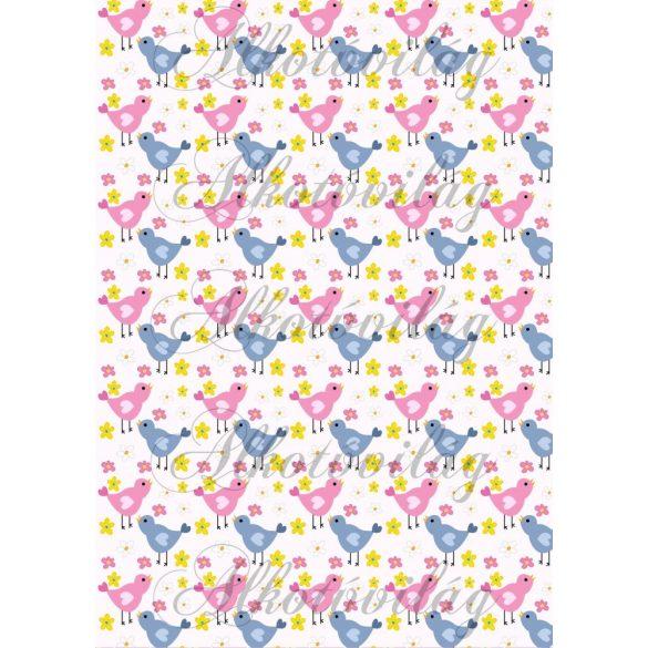 Színes-szíves kismadarak